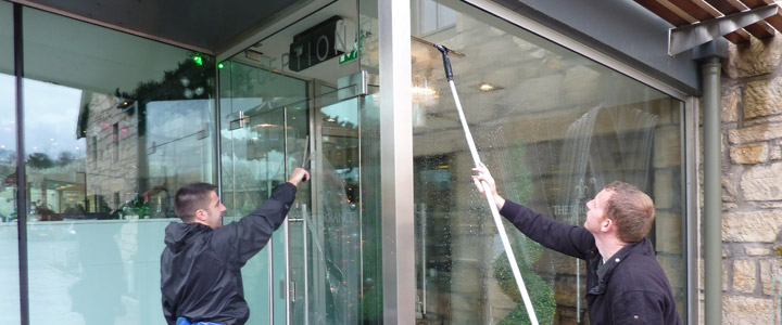 Window Cleaning Glasgow | High Level Access | Builders Cleans